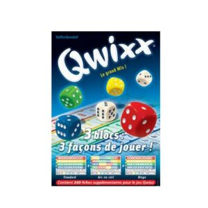 QWIXX – Recharge BLOC DE SCORE (3×80 fiches)