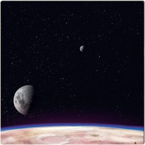 Tapis Espace – 90×90 – Deep Planet